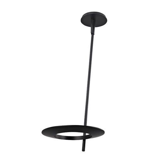 Ringlo Satin Black LED 24-Inch Pendant