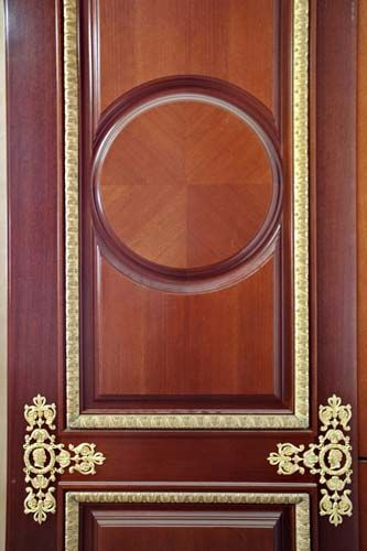 High End Wooden Door With Decorative Bronzes | APF Joinery Solutions