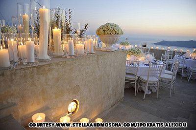Santorini, Greece - the most beautiful wedding venue seen to date