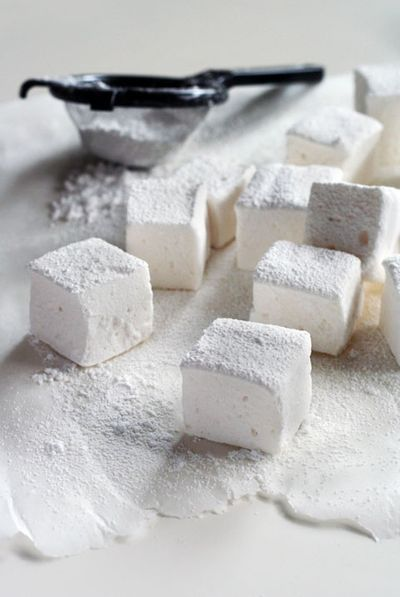Homemade marshmallows. it's my dream to sell little homemade marshmallows for about 10 cents. and little kids save up their nickels and buy some for a special treat on their way home from school.