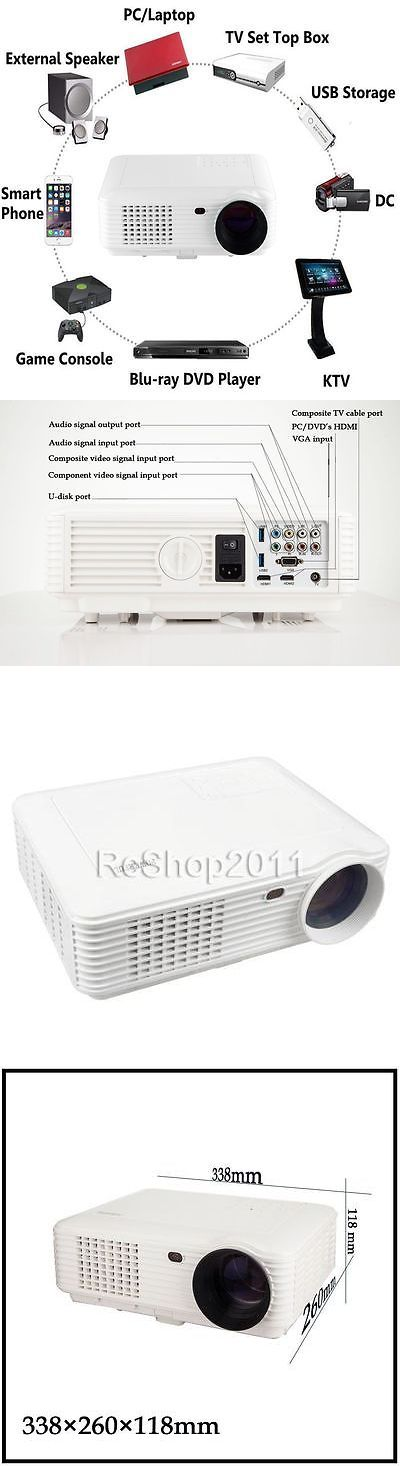 Home Theater Projectors: Powerful Sv-228 4800Lm Hdmi Full Hd 1080P 3D Projector Wifi Home Theater Us BUY IT NOW ONLY: $172.88