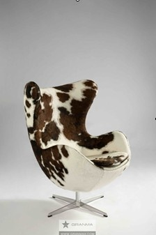 Awesome Cowhide Egg Chair