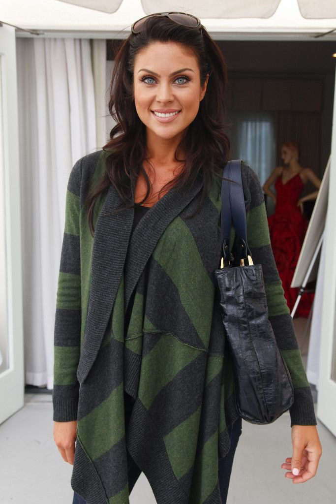 Nadia Bjorlin in cute green sweater!
