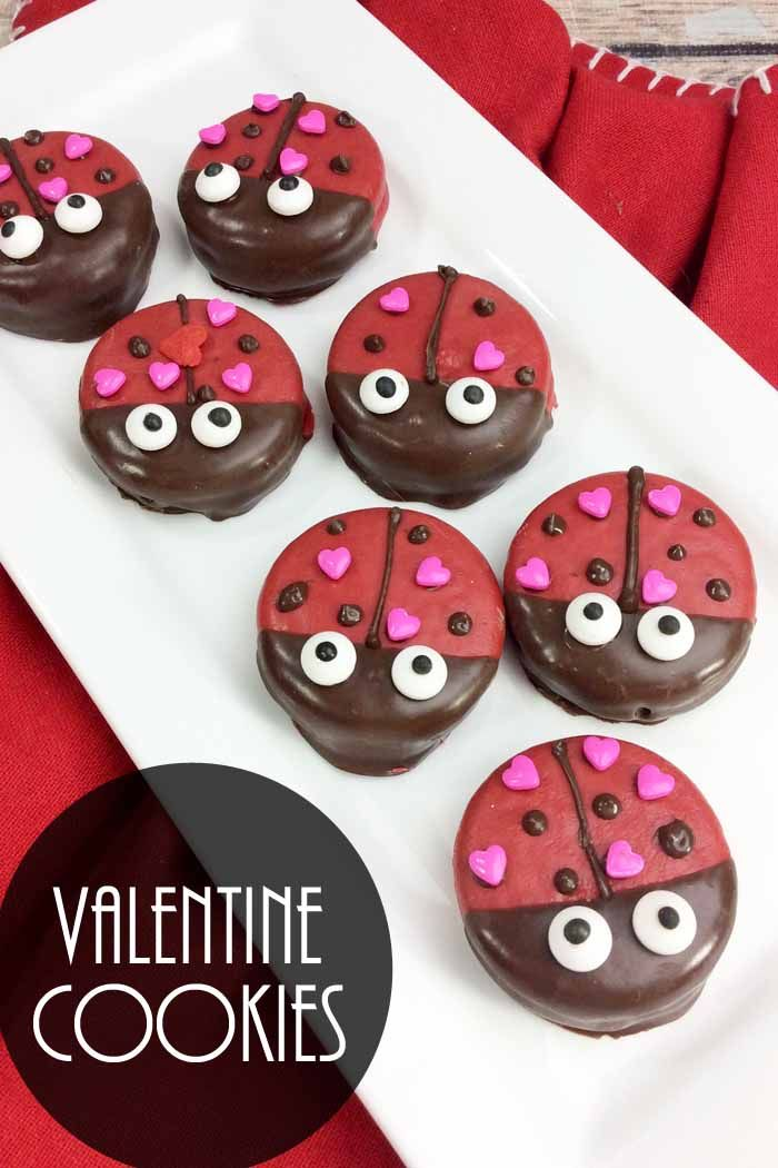 Valentine Cookies Lady Bug Covered Oreos Oreo Cookies Pinterest