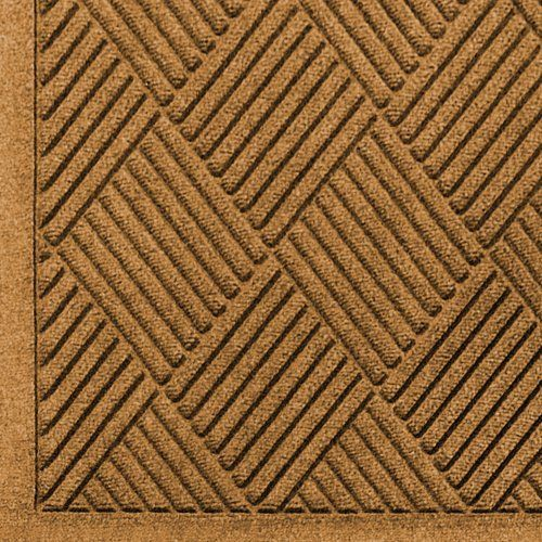 """Andersen 221 Gold Polypropylene WaterHog Fashion Diamond Entrance Mat, 10' Length x 3' Width, For Indoor/Outdoor by Andersen. $126.53. No other mat in the industry traps water and dirt so effectively. WaterHog mats are constructed of rubber reinforced face nubs and the """"diamond"""" design provides crush proof scraping action. The border for WaterHog Fashion features the same 100 percent polypropylene fiber system as the mat surface. Premium 24 oz/sq anti-static Polypropyl..."""