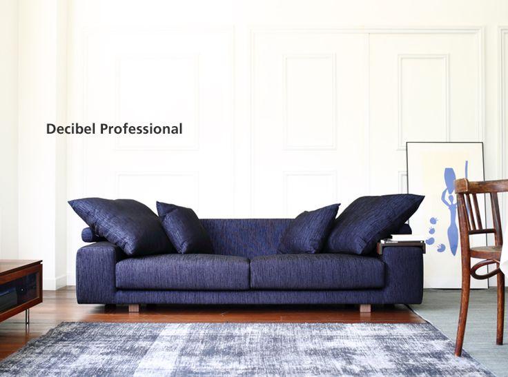 おしゃれなデザインのローソファが送料無料「Decibel Professional 3人掛け両ひじソファ」|ソファ専門店 NOYES