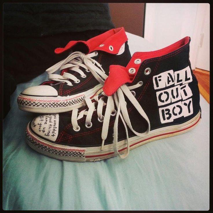 Fall Out Boy Converse- In Progress by Krayola-Kat.deviantart.com on @deviantART