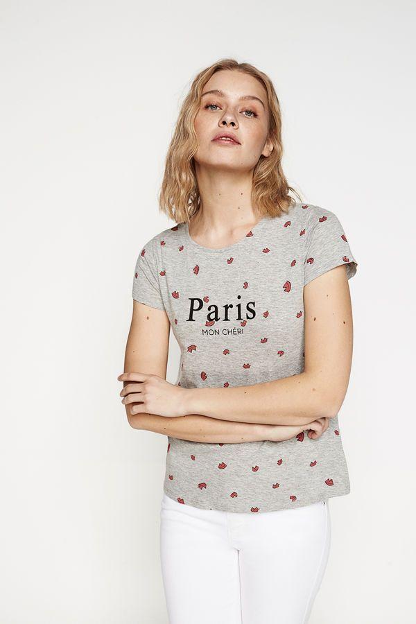 Springfield Gris Con Texto Camiseta Estampado ClaroCamisas dCxhtrsQ