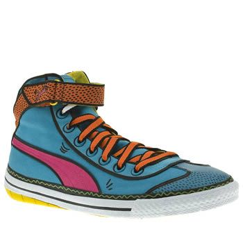 """Once again Puma with this amazing -pop art - design♥ love it! (Puma 917 Mid Houston Trainers)"""