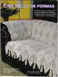 Resultado de imagem para capas de sofa de croche