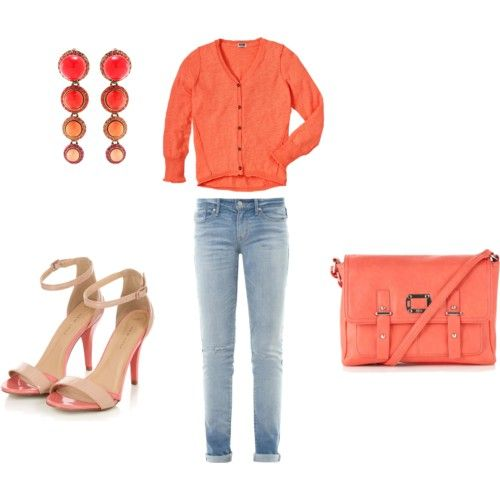 How to match orange and jeans