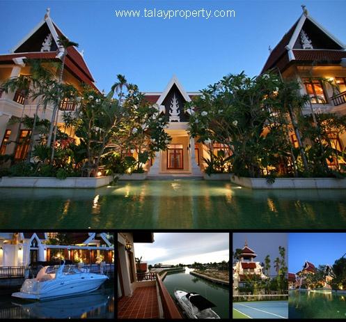 Luxus-Villa mit eigenem Bootssteg zum Verkaufen Na-Jomtien Pattaya