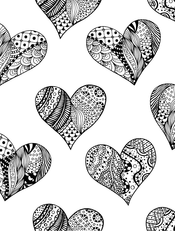 Advanced Valentine Coloring Pages : Free printable valentines adult coloring pages