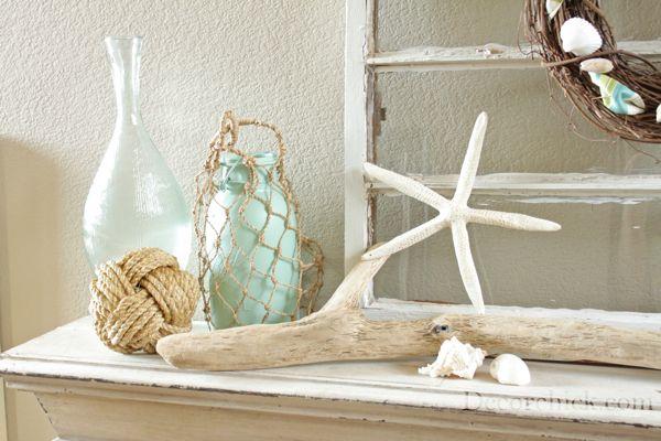 Decor Chick summer mantelDecor Ideas, Mantel Decor, Beach Decor, Beach House Decor, Beach Theme, Coastal Decor, Summer Decorating, Summer Mantles, Beach Design