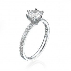 Shona Jewellery Domed Setting Diamond Ring - UK I - US 4 1/4 - EU 47 3/4 EqJKD