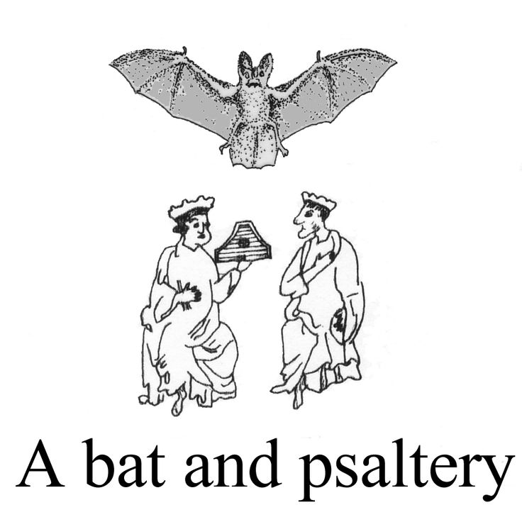 A bat and psaltery.