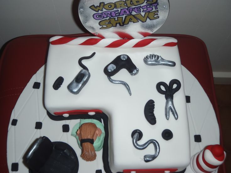 Shave for a cure fundraising Cake