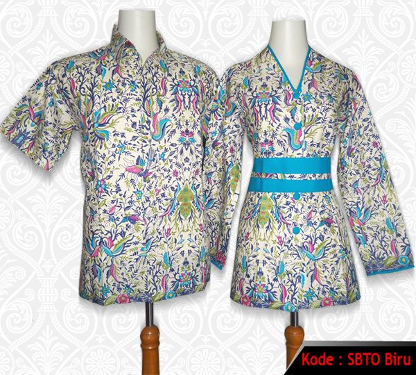 Batik Sarimbit Blus.... Cocok buat seragam batik kantor... kode : SBTO Biru