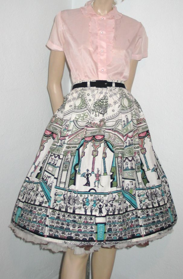 Saul Steinberg Opera print skirt. SOLD