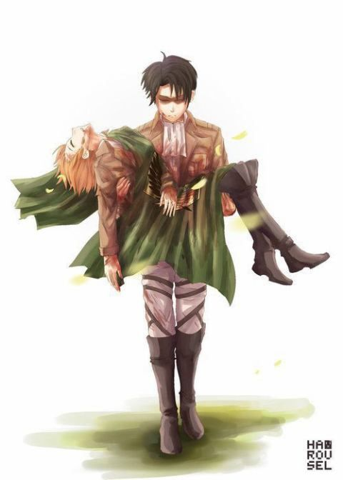 sad, Attack on titan. levi x petra,crying my eyes out...