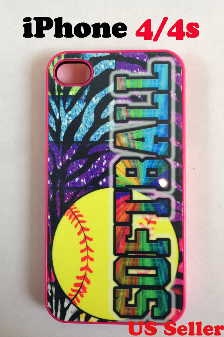 softball iphone 4/4s/5 case by designstudiobyicase on Etsy, $17.99