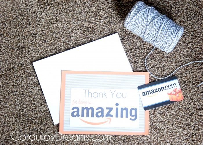 Thank You with Amazon Gift Card {free printable download}   The Creative MomThe Creative Mom