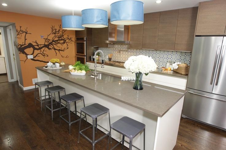 amazing cabinets, moroccan tile backsplash, countertop...