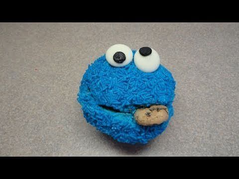 Decorating Cupcakes #27 to 30 Cookie Monster, Elmo, Oscar the Grouch and Big Bird