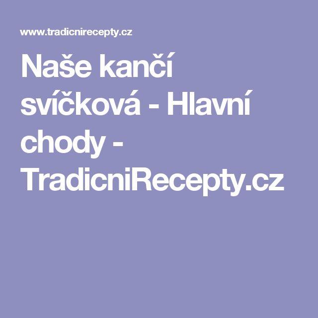 Naše kančí svíčková - Hlavní chody - TradicniRecepty.cz