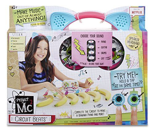 This Project Mc2 Circuit Beats Toy allows you to make music out of any object that will conduct electricity! Connect the circuit board to your target object - such as a banana - hold the ground wire with one hand and touch the object with the other. You make the circuit and, hey presto, you make music. I predict a Christmas 2016 best seller!