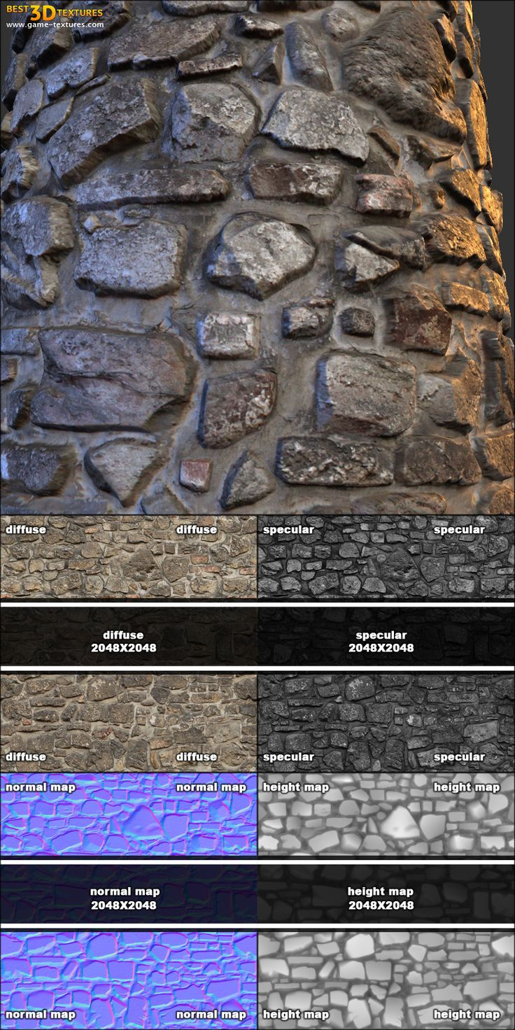 Stone wall 14. A seamless stone wall texture from Game-Textures.com