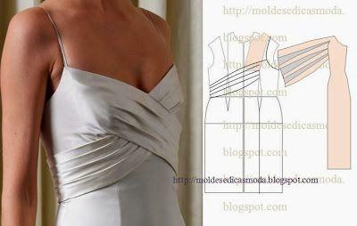 Moldes Moda por Medida: Fashion By, Sewing Design Patterns, Patterns Inspiration, Dresses Details, Moldings Moda, Patterns Drafting, Fashion Sewing Diy, Dresses Patterns, Sewing Patterns