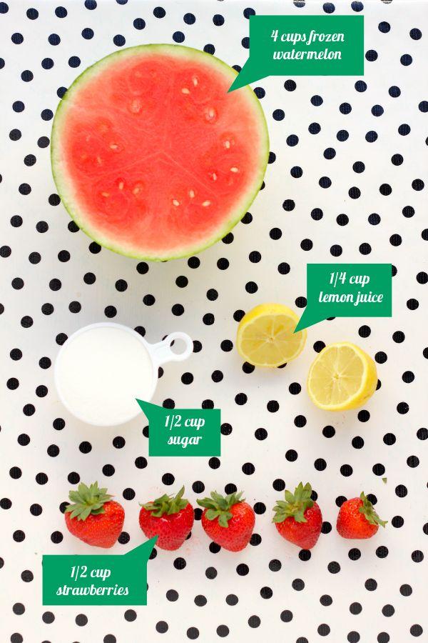 Frozen Watermelon Slush | Visual Recipe