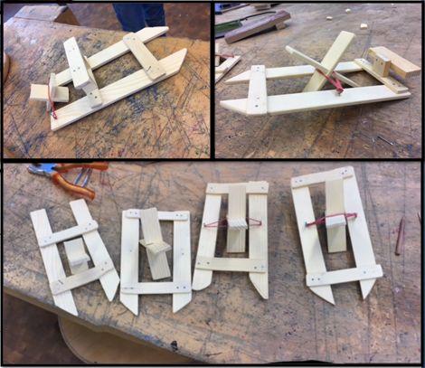 Boote bauen mit Gummiband-Antrieb