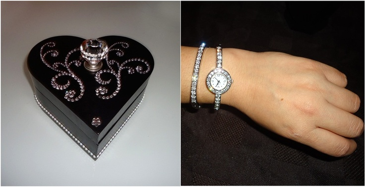 Anniversary heart shaped jewellery box. Temporary out of black colour.