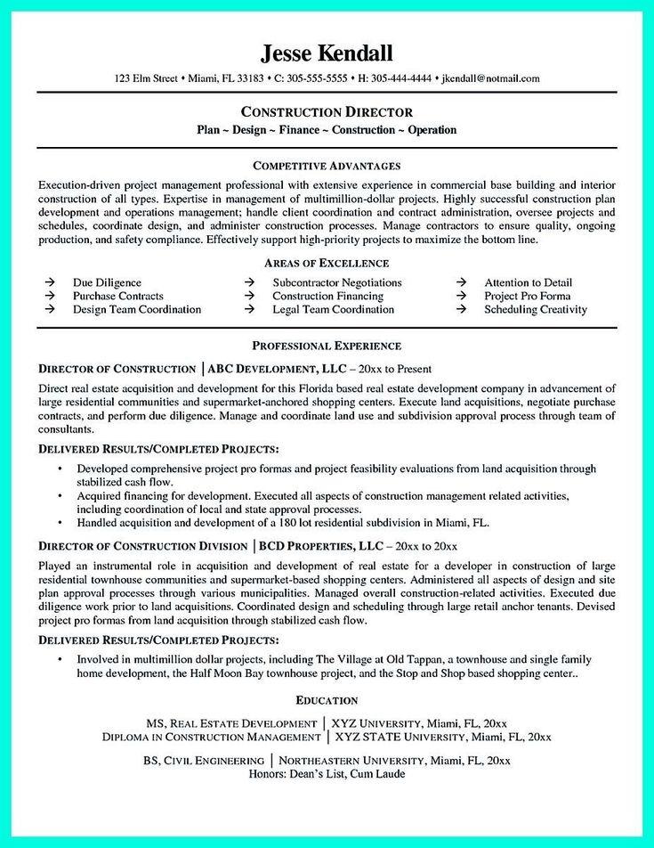 sales director resume pdf