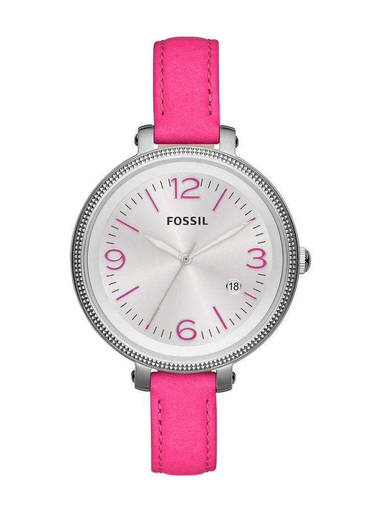 Armbanduhr, Fossil, »Heather ES3277«. Diese Damen-Armbanduhr besticht durch ihren auffallenden Farbton gepaart mit klassischem Design. Die Lieferung erfolgt in einer originellen Dose - auch schön als Geschenkverpackung.