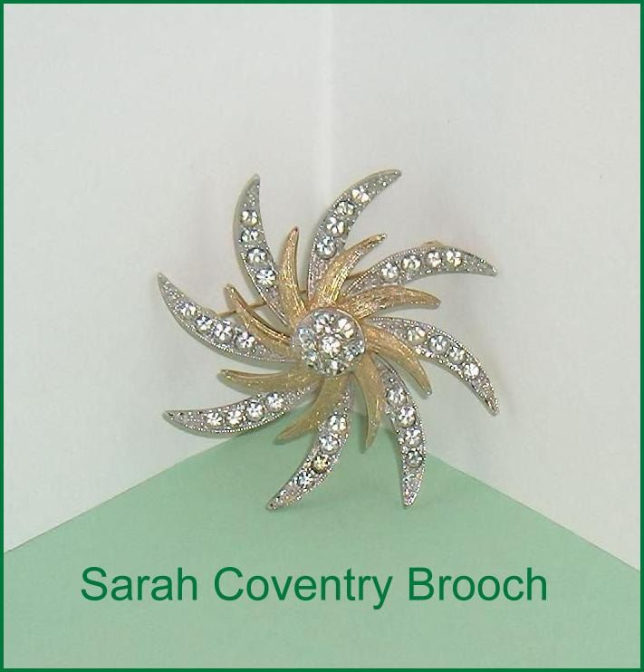 Sarah Coventry Large Vintage Brooch Pin  Canada by EttasEmporium on Etsy