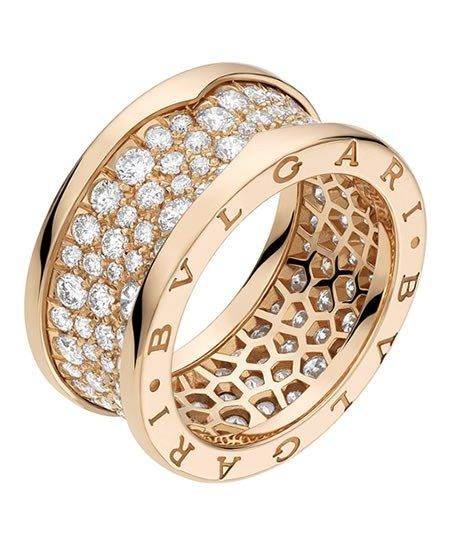 "Bulgari Ring - Ring Bzero1  - Schmuck - Ringe  - Ring ""Bzero1"" aus Roségold und mit Diamanten-Pavé (2,39 Karat), Bvlgari Preis: ca. 8 000 € Information: www.bulgari.com"