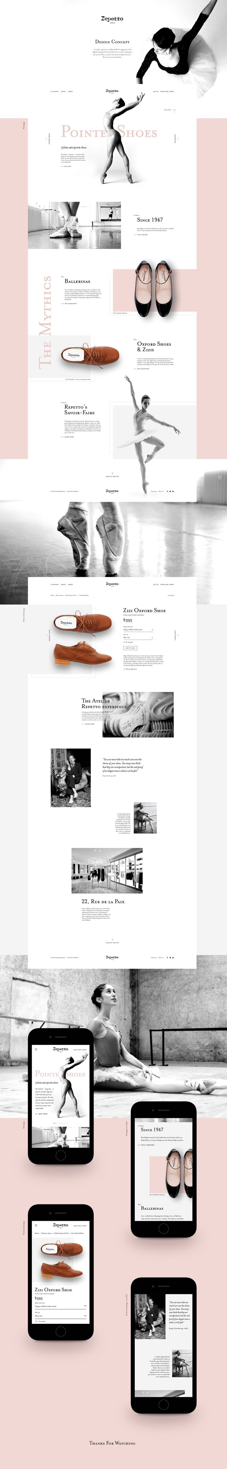 check out this behance project repetto design concept https - Web Design Project Ideas