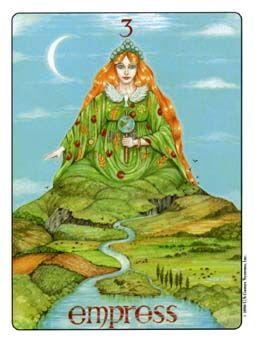 This is from the Gill Tarot. I love this representation of the Empress as Mother Nature.