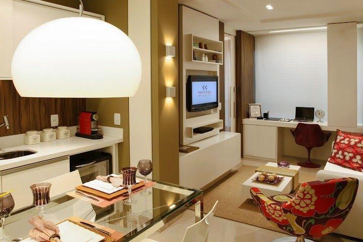 Salas de estar e jantar pequenas e integradas - veja dicas   modelos para apartamentos!