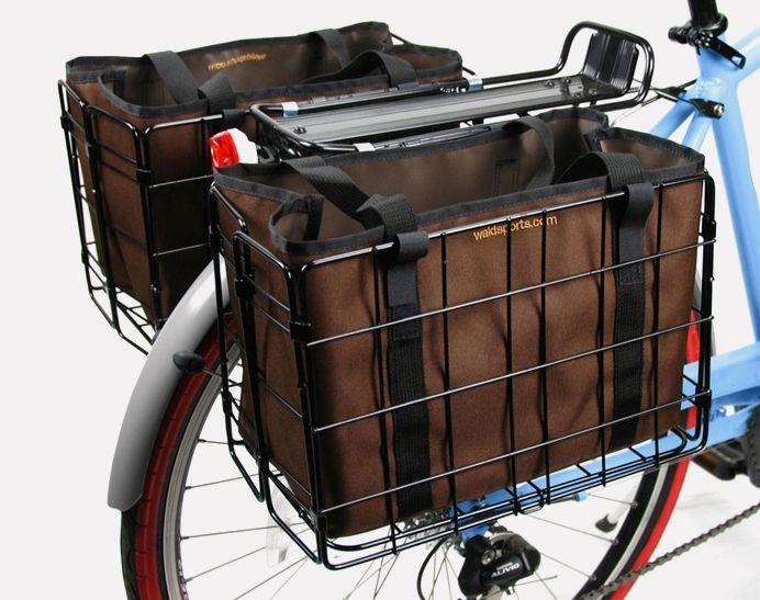 Woody Rack Top Basket Commuter Bike Accessories Bike Basket