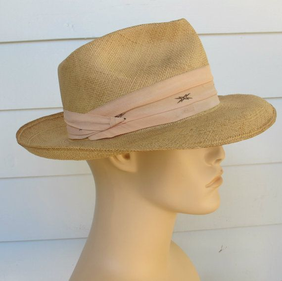 Vintage Mens Hat ... Panama By Stevens at abbeysaccessories, $45.00