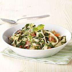 Pappardelle met scampi en spinazie - Recept van Colruyt Culinair