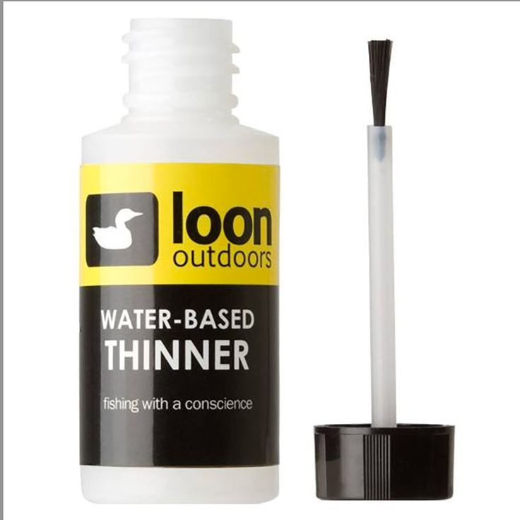 Loon Outdoors WATER-BASED HEAD CEMENT THINNER Fly Tying NEW! #flytying #flyfishing #loonoutdoors