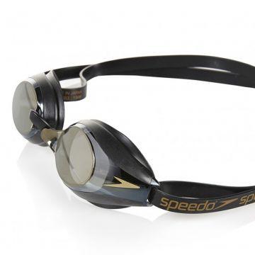 Speedo Speedsocket Aynalı Yarış Gözlüğü - Siyah/Altın
