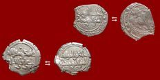 Ancient East - 2 Fatimid Caliphate of Egypt. Al-Hakim (996 - 1021 A.D.) silver half dirhams minted between 386 - 400 A.H. (996 - 1010  A.D.). (2)