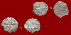 Ancient East - 2 Fatimid Caliphate of Egypt. Al-Hakim (996 - 1021 A.D.) silver half dirhams minted between 386 - 400 A.H. (996 - 1010  A.D.). (2)