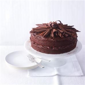 Mary Berry's very best chocolate and orange cake recipe. This cake can be made in a food processor or mixing machine, so it's very easy – a deliciously naughty icing too